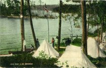 Image of Camp Scene in the Adirondacks - Postcard