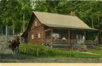 Image of A Camp in the Adirondacks, N.Y.  - Postcard