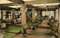 Image of Arrowhead Hotel Lobby - Postcard