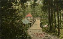 Image of Bridge over Inlet, 4th Lake, Adirondacks - Postcard