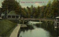 Image of Bridge Across Inlet, Adirondacks, N.Y. - Postcard