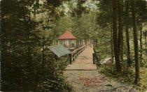 Image of Bridge over Inlet, 4th Lake, Adirondacks. - Print, halftone