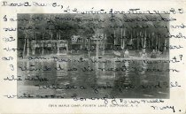 Image of Twin Maple Camp, Fourth Lake, Old Forge, N.Y.  - Postcard