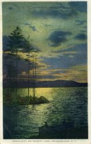 Image of Moonlight on Fourth Lake, Adirondacks, N.Y.  - Postcard
