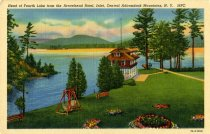 Image of Head of Fourth Lake from the Arrowhead Hotel, Inlet, Central Adirondack Mountains, N.Y. - Postcard