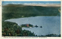 Image of Head of 4th Lake and Rocky Point from Rocky Mountain-Adirondacks - Postcard