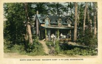 Image of North Side Cottage-Becker's Camp-4th Lake, Adirondacks - Postcard