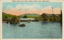 Image of Dollar Island from Cedar Island, Fourth Lake, Adironacks - Postcard