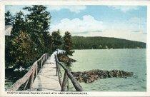 Image of Rustic Bridge-Rocky Point-4th Lake-Adirondacks - Postcard