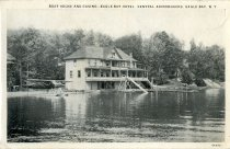 Image of Boat House and Casino-Eagle Bay Hotel, Central Adirondacks, Eagle Bay, N.Y.  - Postcard