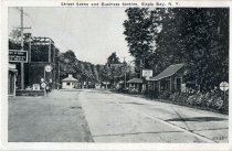 Image of Street Scene and Business Section, Eagle Bay, N.Y.  - Postcard