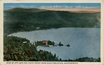 Image of Head of 4th Lake and Rocky Point from Rocky Mountain -- Adirondacks. - Postcard