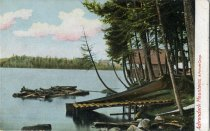 Image of Adirondack Mountains, A Private Camp - Postcard