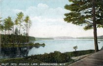 Image of Inlet Into Fourth Lake, Adirondacks, N.Y.  - Postcard