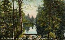 Image of Inlet between Fourth and Fifth Lake. Adirondacks, N.Y. - Postcard
