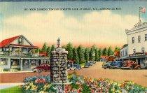 Image of View Looking toward Seventh Lake at Inlet, N.Y., Adirondack Mts. - Postcard