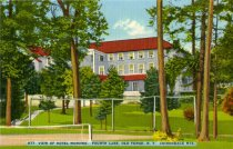 Image of View of Hotel Mohawk, Fourth Lake, Old Forge, N.Y. Adirondack Mts.  - Postcard