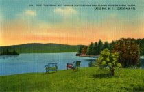 Image of View From Eagle Bay, Looking South Across Fourth Lake Showing Cedar Island - Postcard