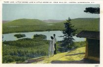 Image of Third lake, Little Moose Lake & Little Moose Mt. From Bald Mt., Central Adirondacks, N.Y. - Postcard