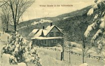 Image of Winter Scene in the Adirondacks - Postcard