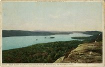 Image of View Down Fourth Lake from Rocky Mountain, Adirondack Mts. - Postcard