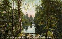 Image of Inlet Between Fourth and Fifth lake, Adirondacks, N.Y.  - Postcard