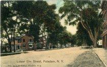 Image of Lower Elm Street, Potsdam, N.Y.  - Postcard