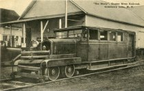 Image of The Jitney, Grasse River Railroad, Cranberry Lake, N.Y.  - Postcard