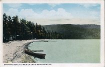 Image of Bathing Beach-Limekiln Lake-Adirondacks - Postcard