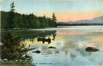 Image of Adirondack Mts., N.Y., Sunset on Utowana Lake - Postcard