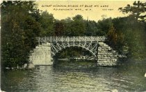 Image of Durant Memorial Bridge at Blue Mt. Lake, Adirondack Mts., N.Y. - Postcard