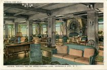 Image of Lounge, Saranac Inn, On Upper Saranac Lake, Adirondack Mts., N.Y. - Postcard
