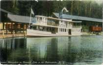 Image of Steamer Adirondack on Raquette Lake in the Adirondacks, N.Y.  - Postcard