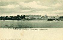 "Image of Saranac Inn from Upper Saranac Lake, ""Adirondacks"" - Postcard"