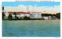 Image of Saranac Inn, On Upper Saranac Lake, N.Y., The Adirondack Mts.  - Postcard