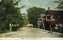 Image of Maple Avenue, Long Lake, N.Y. - Postcard