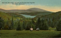 Image of Echo Lake, Sacandaga Lake and Lake Pleasant from Page Hill, Adirondack Mountains. - Postcard