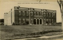 Image of Indian Lake Central High School, Indian Lake, N.Y. - Postcard