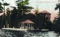 Image of Osprey Island Camp, Raquette Lake, N.Y.  - Postcard