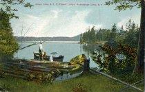 Image of Jones Lake, A.L.C., Forest Lodge, Honnedaga, N.Y.  - Postcard