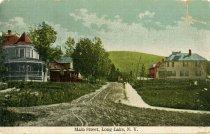 Image of Main Street, Long Lake, N.Y. - Postcard