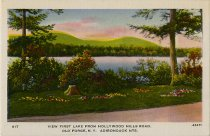 Image of View First Lake from Hollywood Hills Road. Old Forge, N.Y. Adirondack Mts. - Postcard