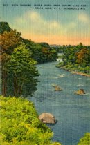 Image of View Showing Indian River From Indian Lake Dam, Indian Lake, N.Y., Adirondack Mts.  - Postcard