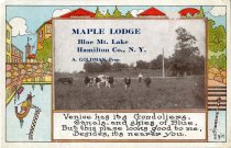 Image of Maple Lodge, Blue Mt. Lake, Hamilton Co., N.Y. - Postcard