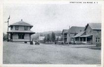 Image of Street Scene, Big Moose, N.Y.  - Postcard