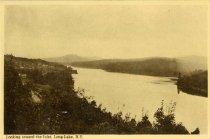 Image of Looking toward the Inlet, Long Lake, N.Y.  - Postcard