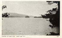 Image of Looking Up Long Lake, Long Lake, N.Y.  - Postcard
