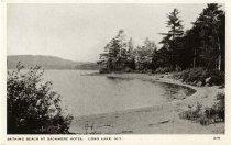 Image of Bathing Beach at Sagamore Hotel, Long Lake, N.Y. - Postcard