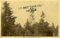 Image of Tower at Top of Blue Mountain - Postcard
