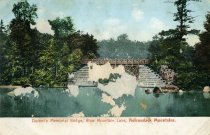 Image of Durant's Memorial Bridge, Blue Mountain Lake, Adirondack Mountains - Postcard